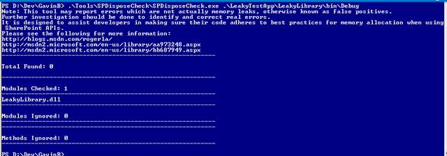 SPDisposeCheck zero issues found